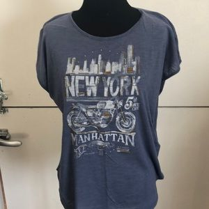 Abercrombie & Fitch muted blue New York t-shirt, M